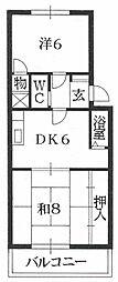 富士マンションA棟[3階]の間取り
