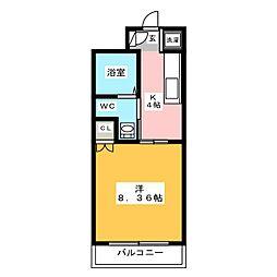 アセットヒルズディアフィオーレ博多[7階]の間取り