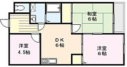 メゾン・ソレイユ[203号室]の間取り