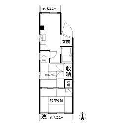 メゾン若竹[2階]の間取り