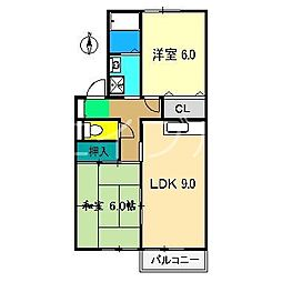 セジュールふだば A棟[2階]の間取り