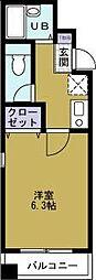 カトレアハイツ[4階]の間取り