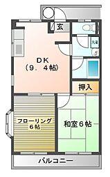 サンワイド[3階]の間取り