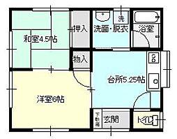 コーポ倉島[101号室]の間取り