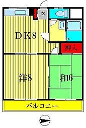 ハイツ峯岸II[305号室]の間取り