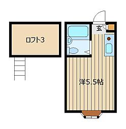 新田コーポ[103号室]の間取り