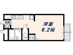 サンシャイン藤川[203号室]の間取り