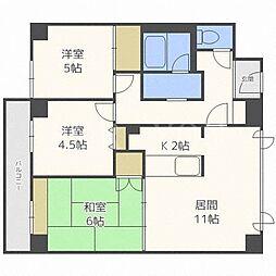 サンシティ札幌[4階]の間取り