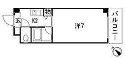 辻井マンション[4階]の間取り