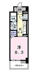ラインスター三萩野[7階]の間取り