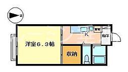 flat本町A棟[201号室]の間取り