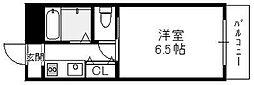 大阪府東大阪市岸田堂西2丁目の賃貸マンションの間取り