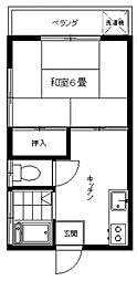 石川ハウス[201号室号室]の間取り