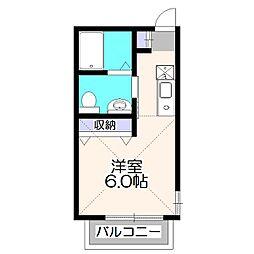 東京都西東京市緑町3丁目の賃貸アパートの間取り