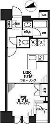 シティハウス東京新橋[7階]の間取り