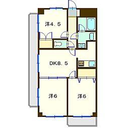 リバ−ヒルズマンション[207号室]の間取り