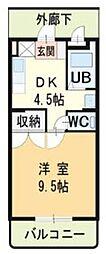 ハイランドマンション多田3号棟[2階]の間取り