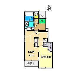 メゾン旭 II[1階]の間取り