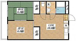 エステート昭島[1階]の間取り