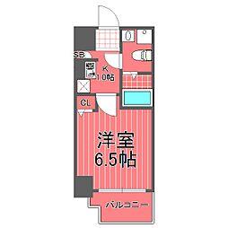 グリフィン横浜セントラルステージ[4階]の間取り