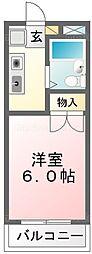 パークテラス堀江[208号室]の間取り