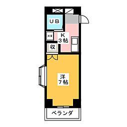 アーバンフラッツ静岡駅前[5階]の間取り