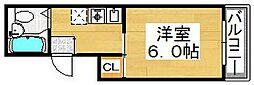 ヴィラ堺[5階]の間取り