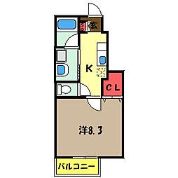 ちしろ台III[1階]の間取り