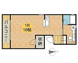 サニーサイドハウス[203号室]の間取り