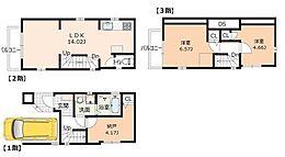 建物面積74.76平米、価格1434万円(税込A)