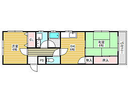 PAL北花田[2階]の間取り