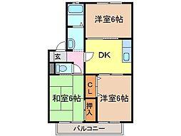 静岡県富士市青葉町の賃貸アパートの間取り