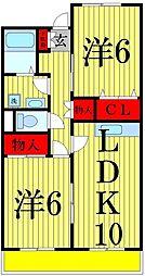 ユニバーサルマンション2[405号室]の間取り