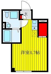 仮)BASE上中里 1階ワンルームの間取り