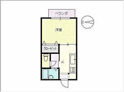 キムタハウスII[102号室]の間取り
