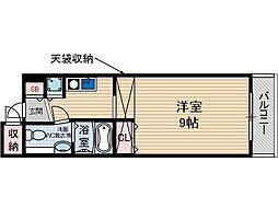 シャレー柿原[4階]の間取り