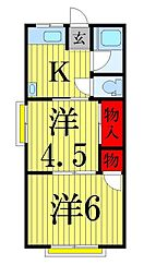 TKハウス2[207号室]の間取り