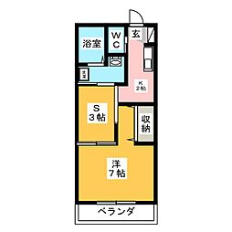 ヒルズコート平松[2階]の間取り