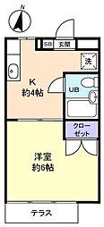 ウィングコート[1階]の間取り