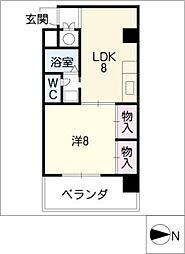 アベニュー22[5階]の間取り