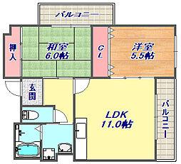 リンデンバウム清風[3階]の間取り