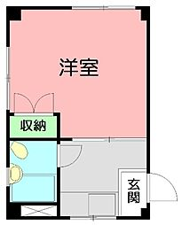 ロイヤル平塚[4階]の間取り