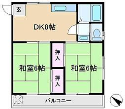 小倉苑[2階]の間取り
