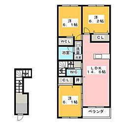 カシオペア[2階]の間取り