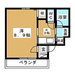 三友居[3階]の間取り