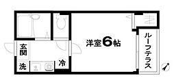 JR京浜東北・根岸線 川崎駅 徒歩19分の賃貸マンション 3階1Kの間取り