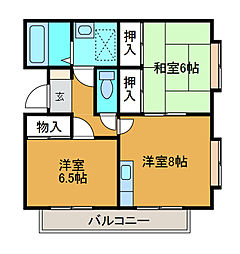 金原マンション[2階]の間取り
