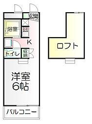 神奈川県藤沢市大鋸1丁目の賃貸アパートの間取り