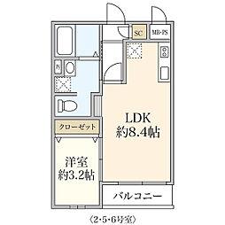 新築T&T Morino[305号室]の間取り