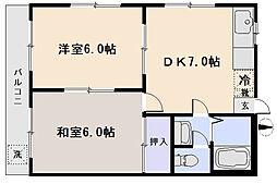ハイツタナカ[2階]の間取り